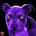 Purple Pitbull Puppy Pop Art - 7085 Bb by James Ahn
