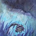 Purple Rain Sunflower by Katt Yanda