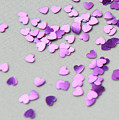 Purple Scattered Hearts I by Helen Northcott