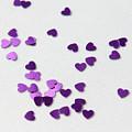 Purple Scattered Hearts II by Helen Northcott