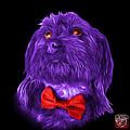 Purple Schnoodle Pop Art 3687 - Bb by James Ahn