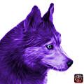 Purple Siberian Husky Art - 6048 - Wb by James Ahn