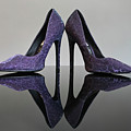 Purple Stiletto Shoes by Terri Waters