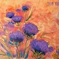 Purple Thistles by Caroline Patrick