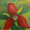 Purple Trillium by Sharon Marcella Marston