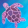 Purple Turtle by Annie Gigon