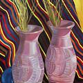 Purple Vases by Antoaneta Melnikova- Hillman