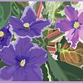 Purple Violets by Susan Spangler