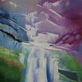 Purple Waterfalls by Lian Zhen