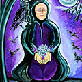 Purple Wise Woman Of The Sacred Raven by Jessica Ahlberg