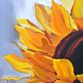 Put On A Happy Face Sunflower Oil Painting by Donna Tuten
