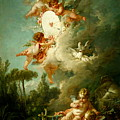 Putti Shooting At A Target by Francois Boucher