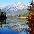 Pyramid Mountain Reflection 3 by Larry Ricker