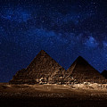 Pyramids Milky Way by Nasser Osman