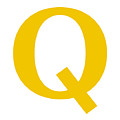 Q In Mustard Typewriter Style by Custom Home Fashions