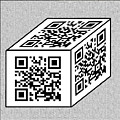 Qr Code Cube by Charles Robinson