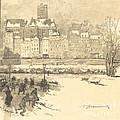 Quai De L'h?tel De Ville by Auguste Lep?re