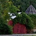 Quaint Red Barn  by Elizabeth Duggan