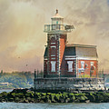 Quaint Stepping Stones Lighthouse by Diana Angstadt