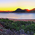 Quartz Mountains And Lake Altus Panorama - Oklahoma by Jason Politte
