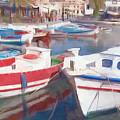 Quay On The Island Of Crete by Sergey Lukashin