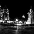 Quebec City Boardwalk At Night by Chris Bordeleau