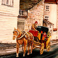Quebec City Carriage Ride by Carole Spandau