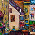 Quebec City Street Scene  Caleche Ride by Carole Spandau