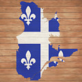 Quebec Rustic Map On Wood by Dan Sproul