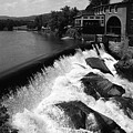 Quechee, Vermont - Falls 3 Bw by Frank Romeo