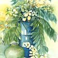 Queen Emma In Blue Vase by Ileana Carreno