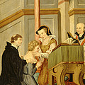 Queen Mary I Curing Subject With Royal by Wellcome Images