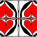 Queen Of Hearts Abstract Bliss Art By Omashte by Omaste Witkowski