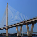Queensferry Crossing In Panorama by Maria Gaellman