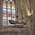 Quelven Church, Brittany, France, Ship by Curt Rush
