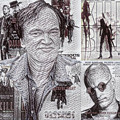 Quentin Tarantino Poster Drawing by Pd