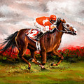 Quest For The Win - Horse Racing Art by Lourry Legarde