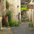 Quiet Lane In St Cirq I France by Greg Matchick