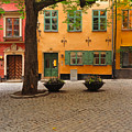 Quiet Little Square In Old Gamla Stan In Stockholm Sweden by Greg Matchick