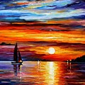 Quiet Sunset by Leonid Afremov