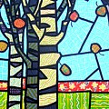 Quilted Birch Garden by Jim Harris