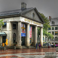 Quincy Market On A Wet Day by David Birchall