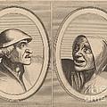 """""""dief-achtighe Tijs"""" And """"nies Spoel-de-nap"""" by Johannes And Lucas Van Doetechum After Pieter Bruegel The Elder"""