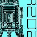 R2d2 - Star Wars Art - Blue by Studio Grafiikka