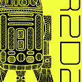 R2d2 - Star Wars Art - Yellow by Studio Grafiikka