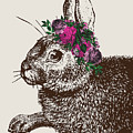 Rabbit And Roses by Eclectic at HeART