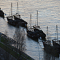 Rabelo Boats On Douro River In Portugal by Artur Bogacki