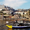 Rabelo Boats On River Douro In Porto 02 by Dora Hathazi Mendes