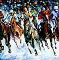 Race On The Snow by Leonid Afremov