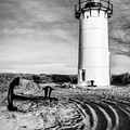Race Point Light Provincetown Ma Bw by Susan Candelario